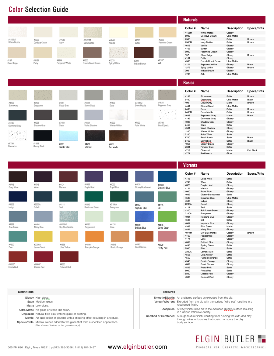 Color Section Guide